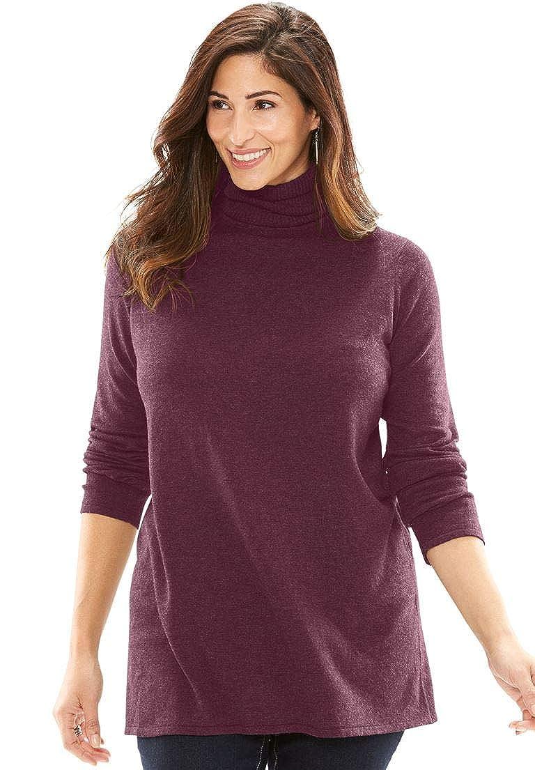 9908621f51 Jessica London Women s Plus Size Cotton Cashmere Turtleneck ...