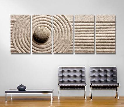 Zen 4 - Quadro moderno intelaiato 190x70 cm stampa su tela zen relax ...