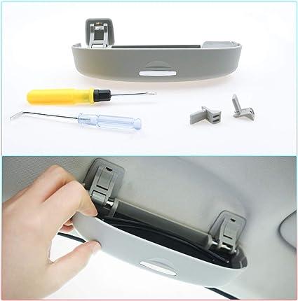CDEFG Auto Coche Gafas Caja Organizador Gafas de Sol Soporte Almacenamiento Bolsillos para Lexus ES NX RX UX (Gris): Amazon.es: Coche y moto