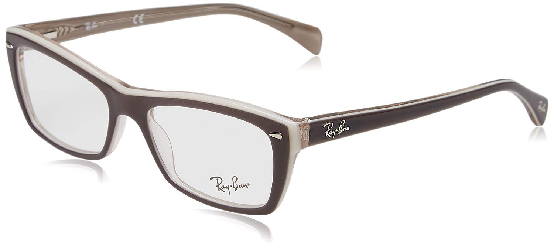 fe2bedf4e3 Amazon.com  Ray-Ban Women s RX5255 Eyeglasses Top Havana On Violet 53mm   Clothing