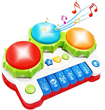 GoStock Juguete Musical del Bebé para Niños y Niñas Instrumento Musical con Teclado y Batería Niños 1 2 3 Años
