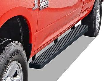 iBoard Third Generation, for Selected Dodge Ram 1500//2500//3500 Quad Cab, Aluminum APS IBDZ3997 Black 6 Running Board Side Step