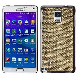 TopCaseStore / la caja del caucho duro de la cubierta de protección de la piel - Fabric Rustic Fashion Simple Linen - Samsung Galaxy Note 4 SM-N910
