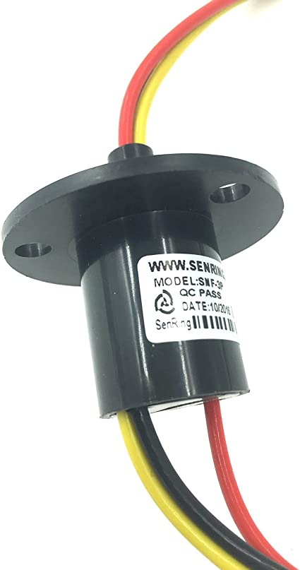 3 Wires Slip Ring,250RPM 15A Mini Slip Ring 3 Wires 0-600V for Wind Turbine Power Generator