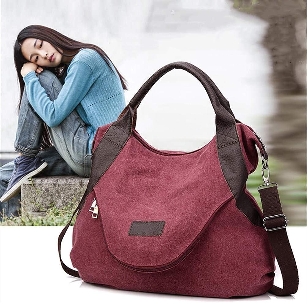 A.OAQRFA Borsa a tracolla grande per donna casual Borsa a tracolla in tela per donna, 50x13x43cm Vino Rosso