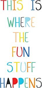 WallPops DWPQ2703 Fun Stuff Wall Quote Decals, Multi-Color