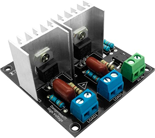 AC Light Dimmer Module 1 Channel 3.3V//5V Logic Pwm 220V//110V Arduino AC 50//60hz