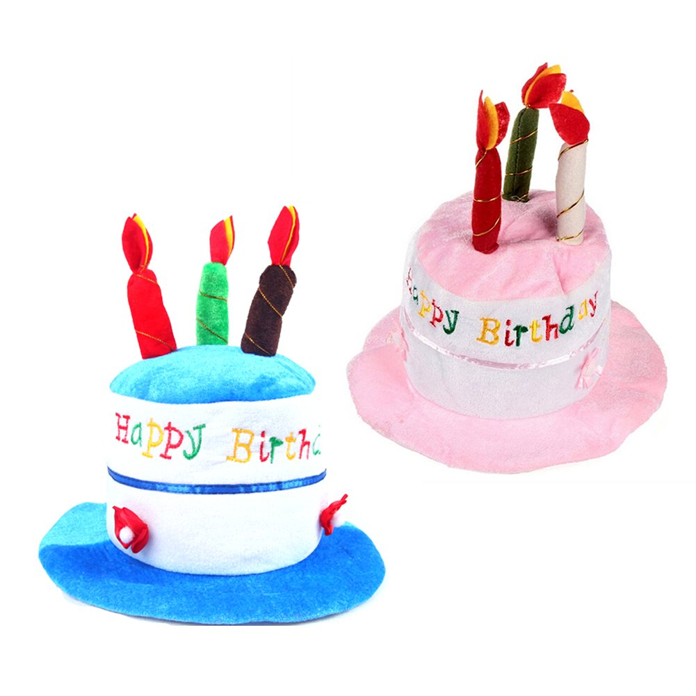 Child Candle Hat Happy Birthday Cake Hats Novelty Party Present