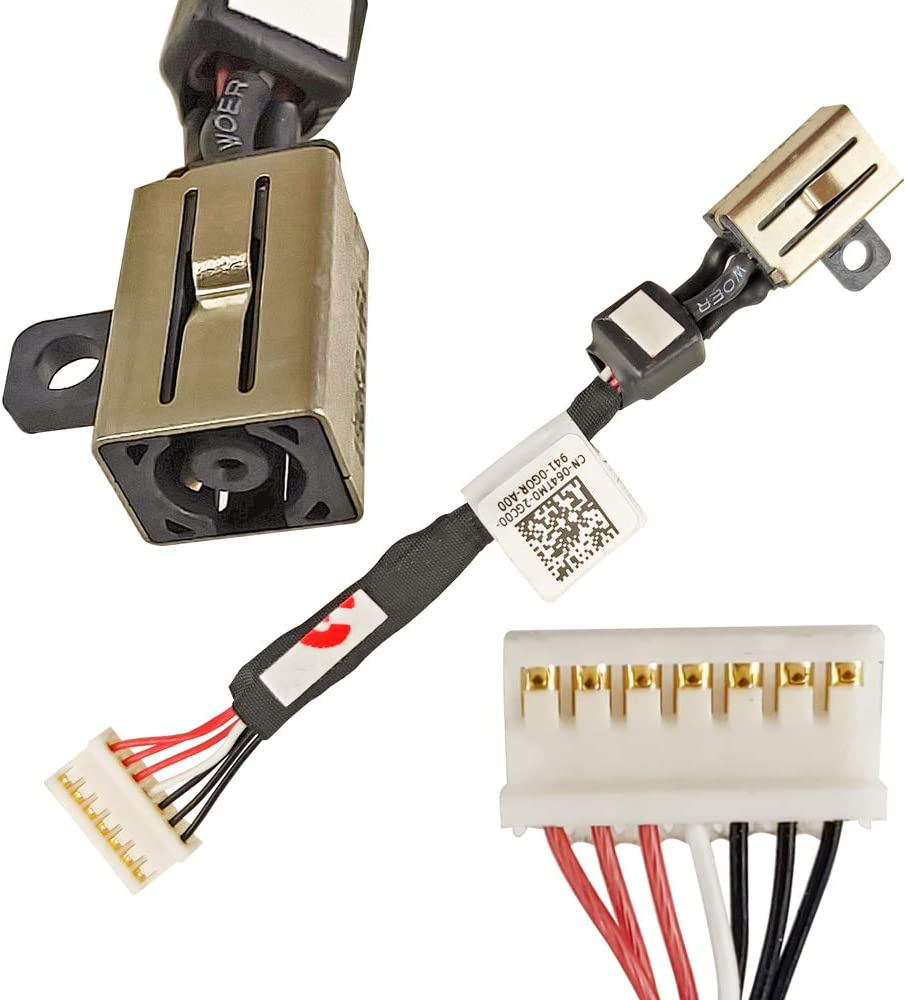 QUETTER-LEE ZHAWULEEFB New DC Jack Replacement for DELL XPS 15 9550 9560 9570 9530 9532 M3800 Precision 5510 Series 5510 M5510 M5520 AMMOO DC in Cable DC30100X200 064TM0