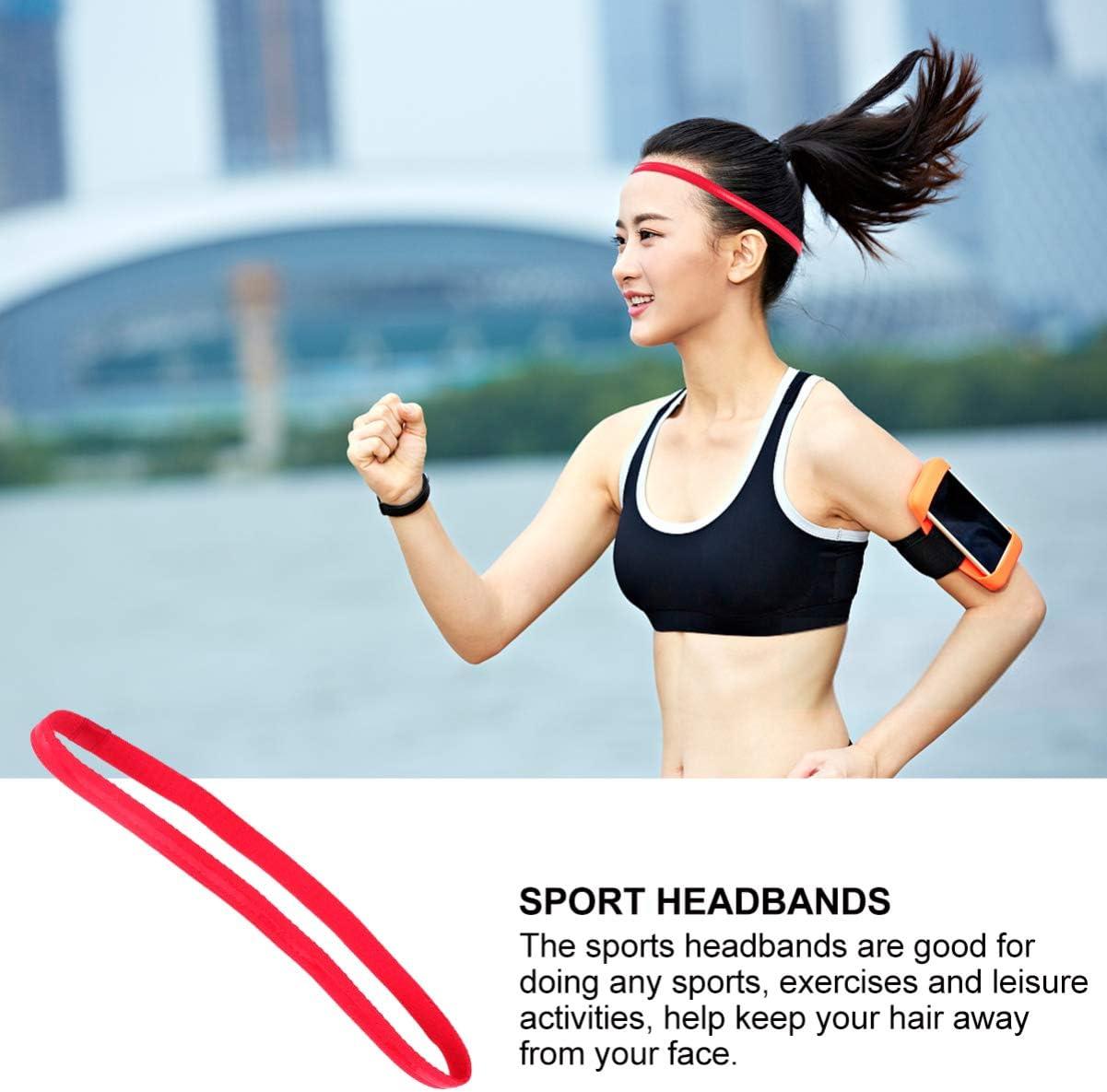 color blanco Minkissy 5 unidades de cinta antideslizante para el pelo de yoga cinta el/ástica para entrenamiento yoga f/útbol tenis accesorio deportivo para f/útbol baloncesto