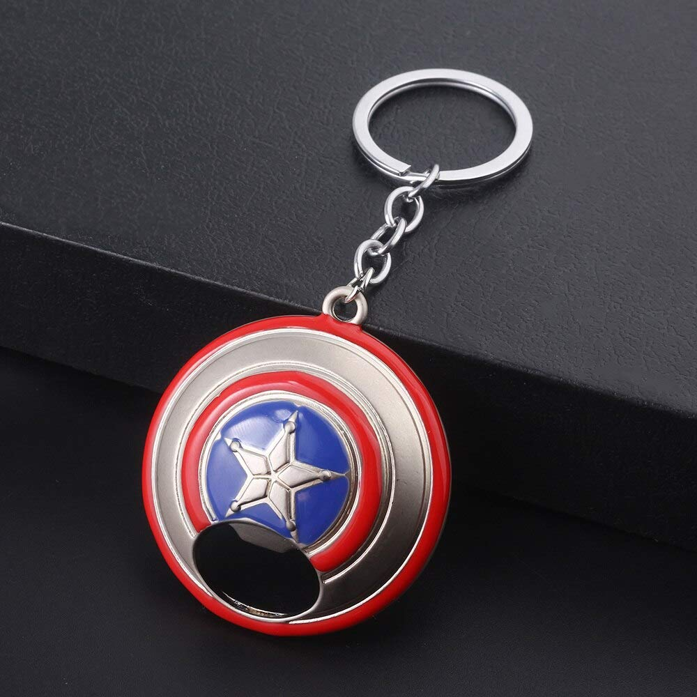 Wholesale 6 Styles Marvel Avengers Captain America Shield Keychain for Men Jewelry Gift by Audree