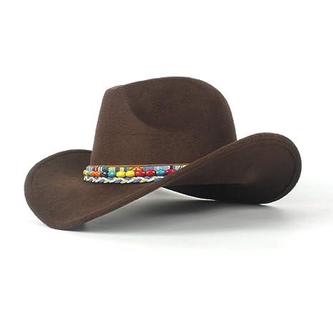 HHF Caps e Cappelli Cappello da Cowboy Perline Colorate Cappello da Cowboy  2018 in Feltro di 586d6123265b