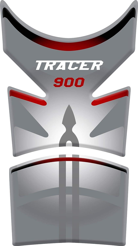 PARASERBATOIO ADESIVO Nero//Blu RESINATO EFFETTO 3D compatibile con Yamaha Tracer 900