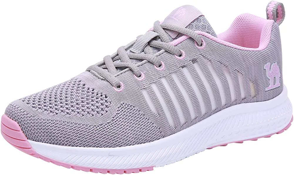 CAMEL CROWN Trail Running Shoes Women Breathable Mesh Tennis Shoes Super Lightweight Comfortable Walking Sneakers Casual Non-Slip Athletic