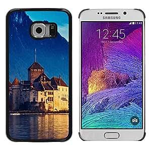 Smartphone Rígido Protección única Imagen Carcasa Funda Tapa Skin Case Para Samsung Galaxy S6 EDGE SM-G925 Nature Beautiful Forrest Green 96 / STRONG