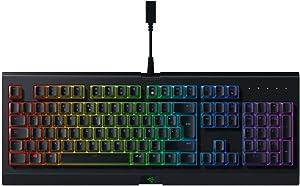 Razer Cynosa Chroma Teclado de membrana para juegos teclado con teclas de suaves, programables, rollover de 10 teclas, iluminación cromática RGB, ES Layout