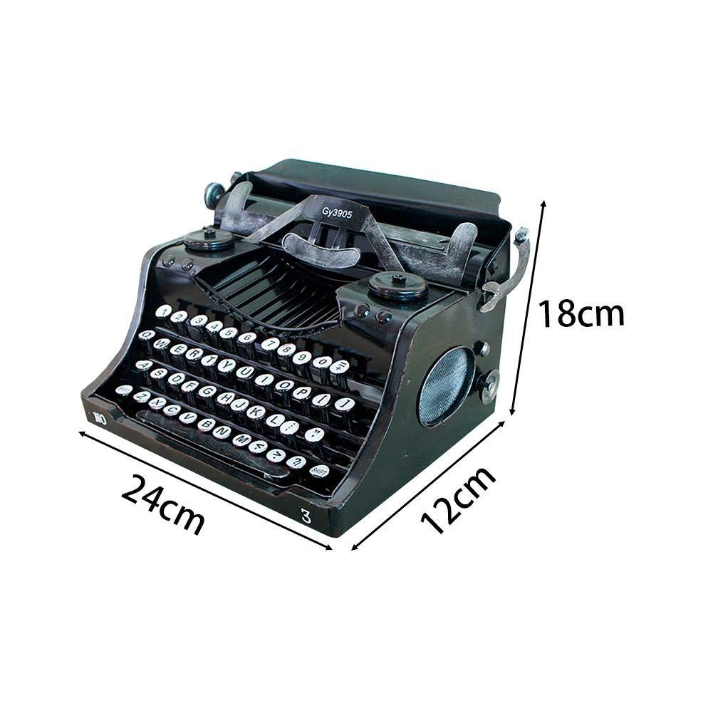 Red-eye Retro Vintage Typewriter - Old Typewriter Keyboard English Display Props Model Retro Decoration Ornaments by Red-eye