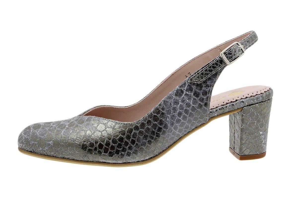 PieSanto Salón Grabado Nude 180229 Zapato Confort 37 EU|Serpiente Acero