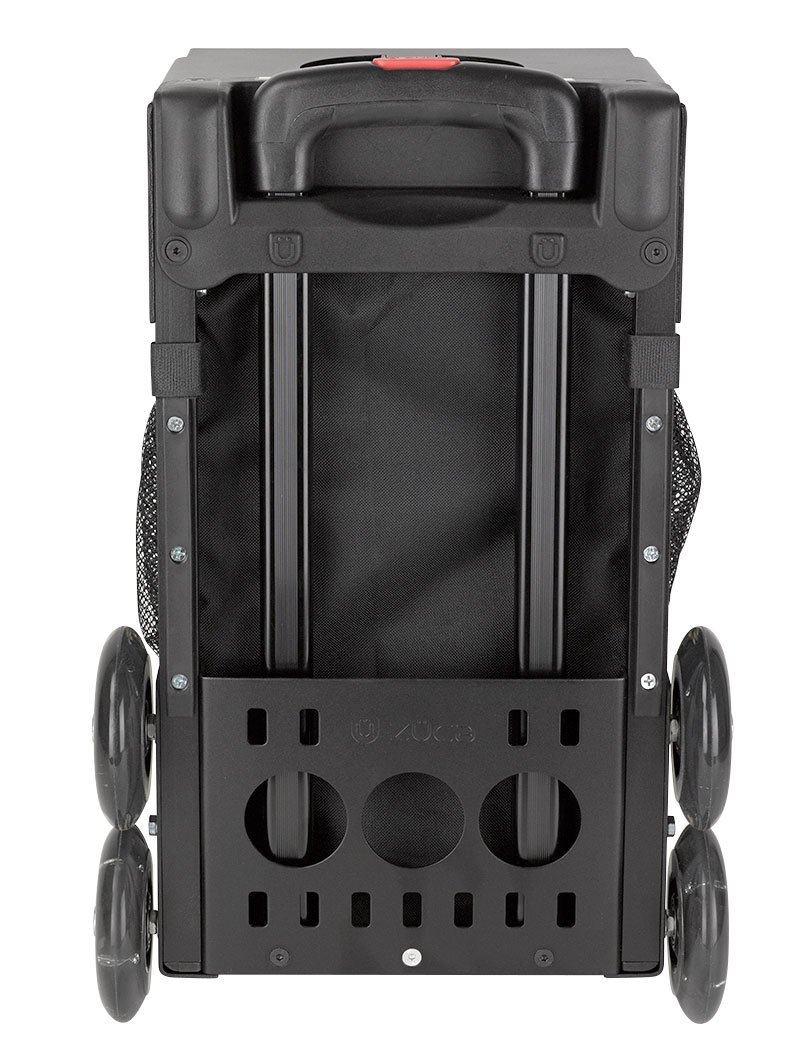 ZUCA Rolling Pet Carrier - Houndstooth Black Bag with Black Sport Frame and Flashing Wheels by ZUCA (Image #5)