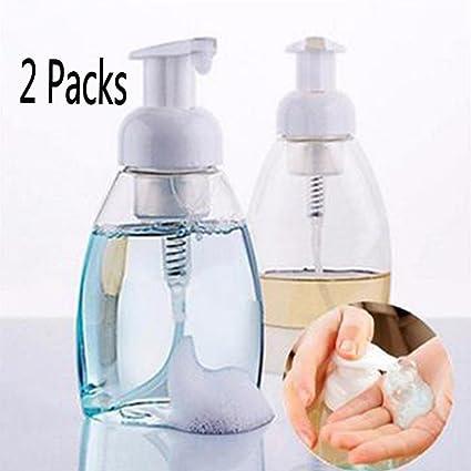 Espuma dispensador de botella, Woopower 2 paquetes 250 ml/300 ml ovalado plástico espuma