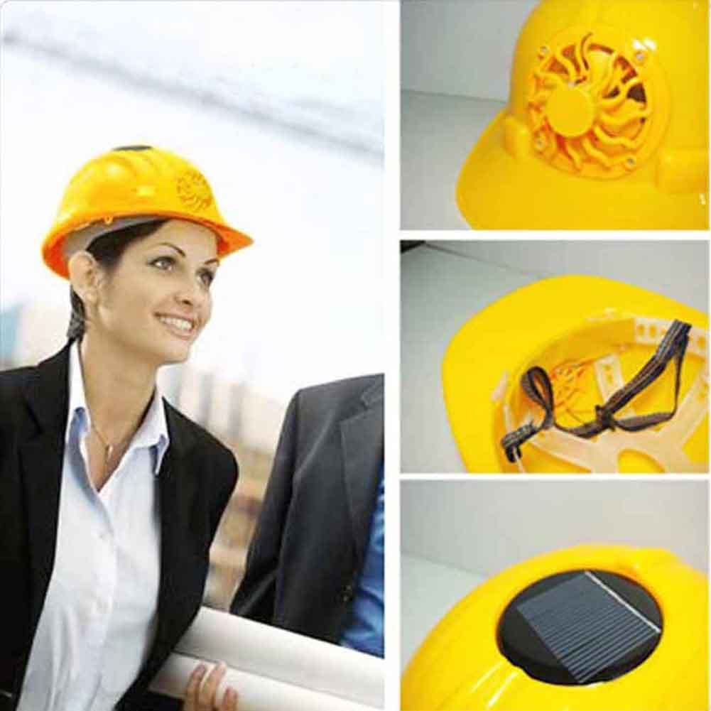 Safety Helmet with Solar Fan Ventilate Work Helmet Cooling Ventilation Hard Hat Baseball Cap Style Head Protection with Cooler Safe Protective Construction Worker Motorcycle Drivers