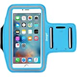 iPhone 6s Armband for Running, Nancy's shop Water Resistant Sports Armband with Key Holder, Sports universal Armband for Samsung galaxy note-Sky Blue