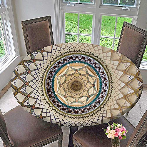Chateau Easy-Care Cloth Tablecloth kashan Iran October ceil of khane ye borujerdi House for Home, Party, Wedding 35.5