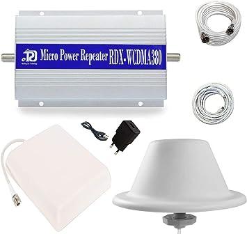IDOR STORE Kit Amplificador repetidor de señal gsm UMTS 3 G Antena Tim Wind Vodafone Tres w-cdma2100
