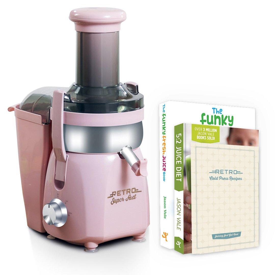 Retro Cold Press Pink 240 Watt Juicer