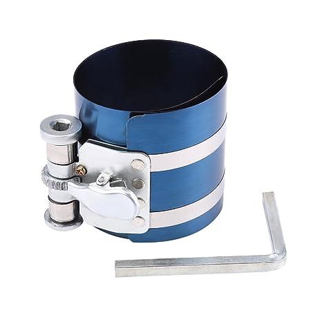 Qiilu - Alicates para instalar el compresor del anillo del pistón del motor del coche,