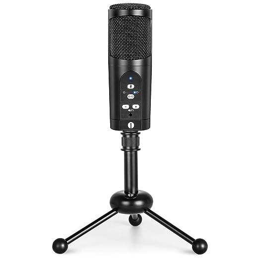 5 opinioni per 1byone Microfono USB con Treppiedi, Pulsante Mute, Indicatore LED, Compatibile