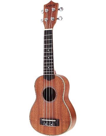 Andoer® 21in Ukelele Compacto Ukelele Hawaiano Caoba Aquila Rosewood Fretboard Puente Soprano Instrumento de Cuerdas
