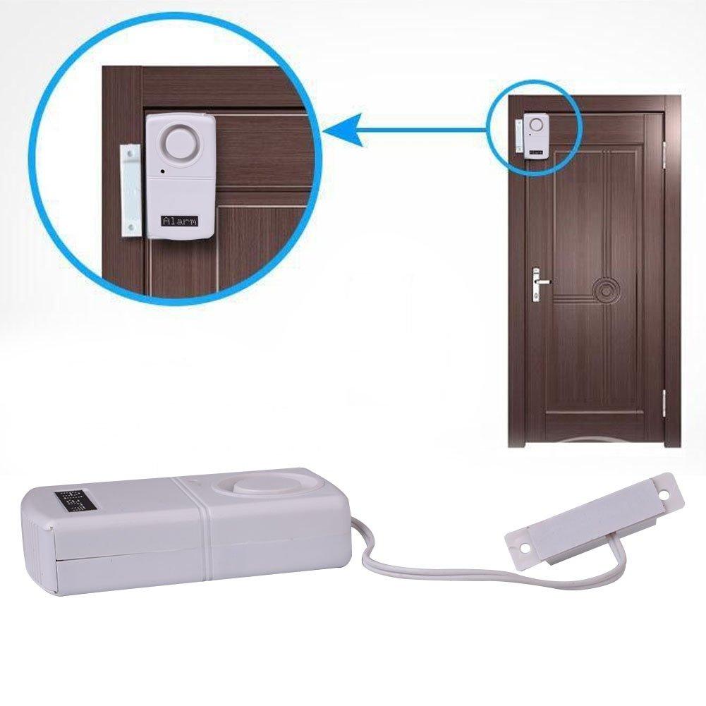 Giantree 家庭、ガレージ、アパート、寮、RV、オフィスに最適なパーソナルセキュリティワイヤレスウィンドウ/ドアアラームセンサー B076Q5R9M3