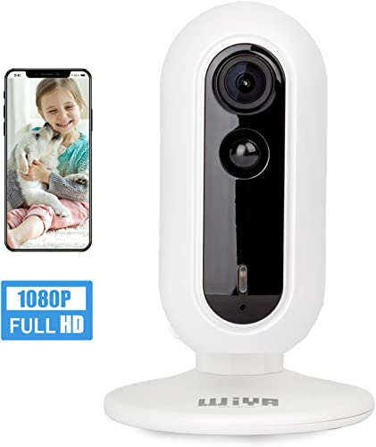Wireless Oversized Wide Angle Security Camera, WiYA Baby Monitor, Pet WiFi IP Panoramic Viewing Camera,1080P HD 2.4G Indoor Home Surveillance Camera, Night Vision, Two-Way Audio, Motion Detection