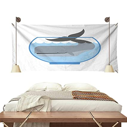 Amazon Com Anyangeight Gorgeous Tapestry Whale In Aquarium Large