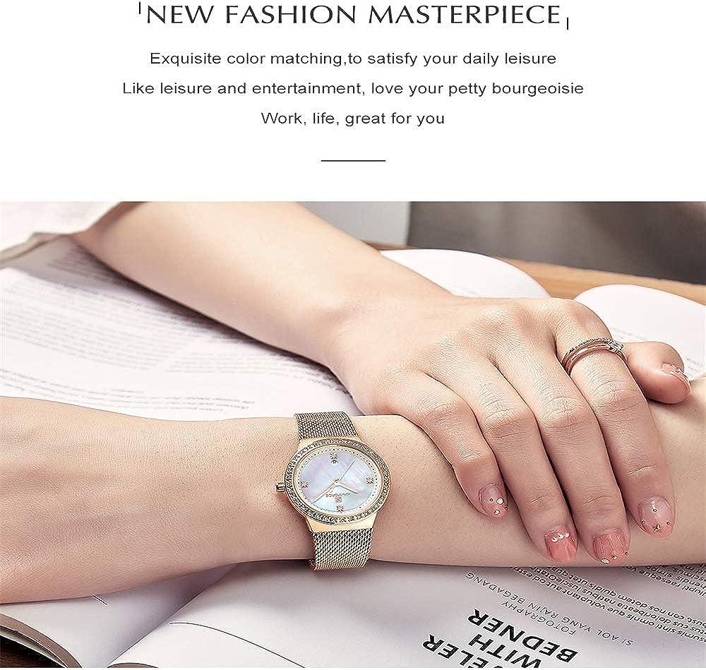 Montre Chrono Montre Femmes en Acier Inoxydable Montres à Quartz Lady Top Marque de Montre de Mode Simple Montre-Bracelet Montres Montres-Bracelets Or