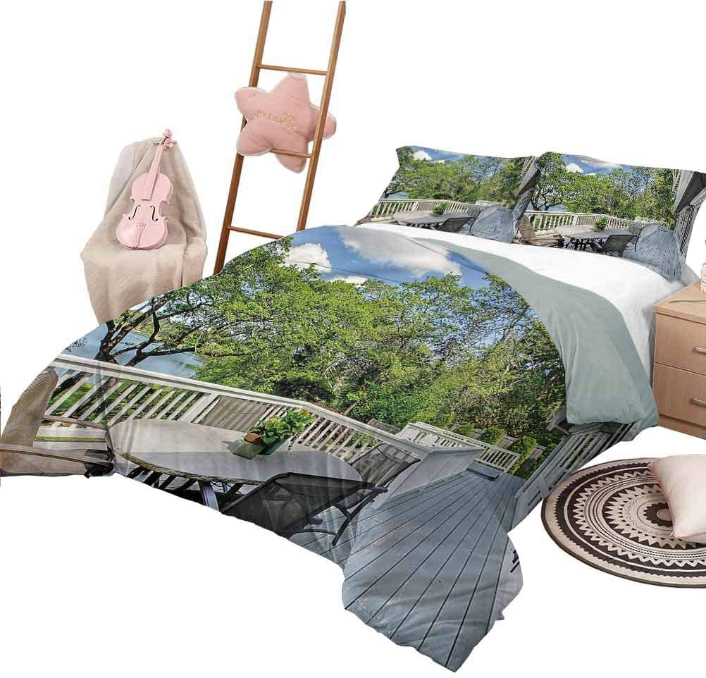 Nomorer Quilt Set Twin Size Modern Quilt Cover Home Patio Balcony Lake
