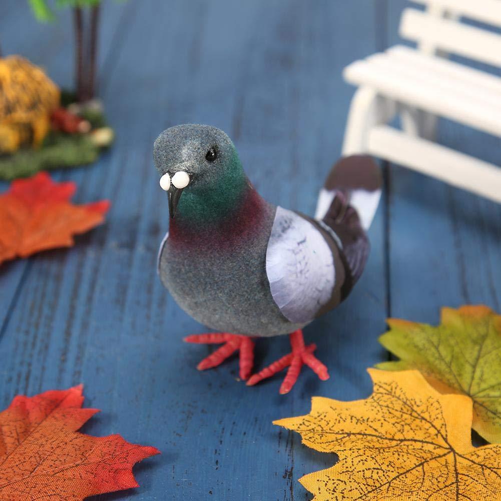 Broadroot Oiseau d/écoration de Imitation Artificielle du Jardin du Oiseau de la Imitation du mod/èle de la Colombe de la Mousse de la Simulation