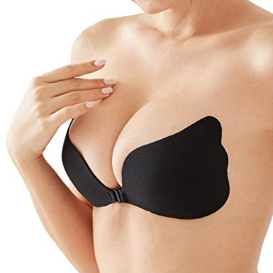 Strapless Seamless Push Up Silicone Self Adhesive Reutilisable Soutien-gorge  invisible rembourré 16ba1ddcafd