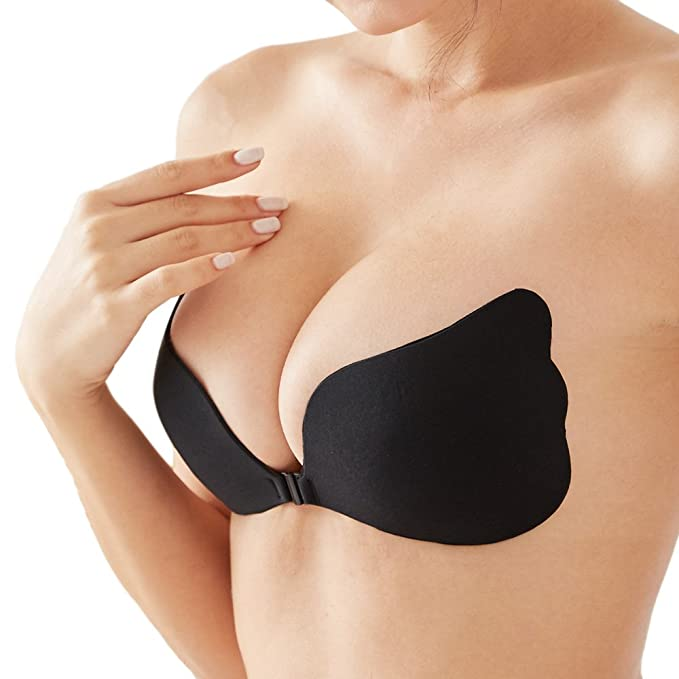 Strapless Seamless Push Up Silicona autoadhesivo reutilizable acolchado Invisible bra ...: Amazon.es: Ropa y accesorios