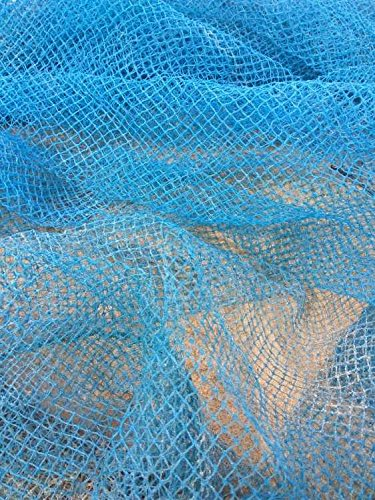 Pigeon Net Nylon with Attached Rope Bird Protection Net (Blue, 8x12ft)