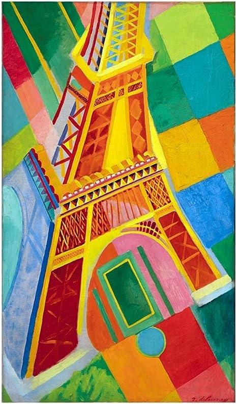 Legendarte Tableau Impression Sur Toile Tour Eiffel Robert Delaunay Amazon Fr Cuisine Maison