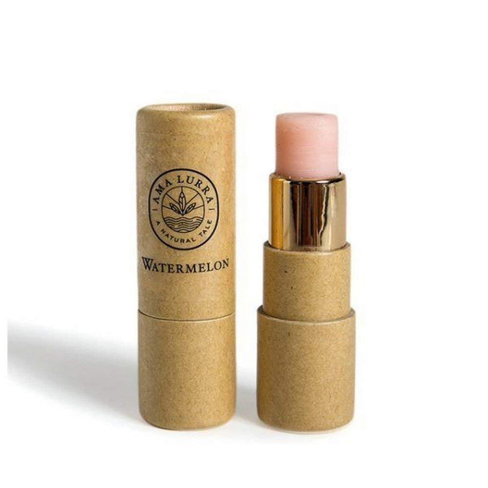 Vegan Organic Anti Aging 100% Natural Moisturizing Lip Balm, Beeswax with Vitamin E & Shea Butter - Pack of 2 (Vitamin E & Watermelon) 0.17 oz Each