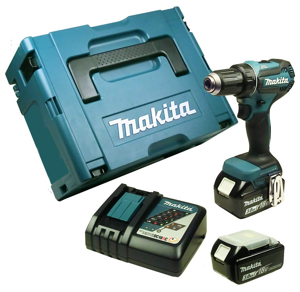 Sonderzubehör Makita DDF485RFJ Akku-Bohrschrauber mit 2 x 3,0 Ah Makpac