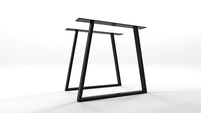 Pied De Table Fer.2x Pieds De Table Industriel Trapeze Pieds En Metal Pieds