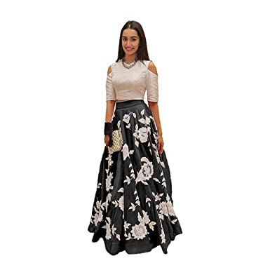 Amazon.com: Active bordado Lehenga Choli (negro): Clothing