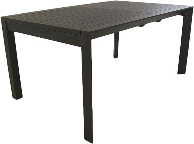 Edenjardi Mesa para Exterior Extensible de 160 cm a 220 cm, Aluminio Color Antracita, Tamaño: 160/220x98x76 cm: Amazon.es: Jardín