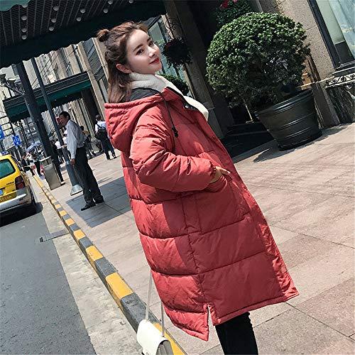 In Imbottita Invernale Slim Capispalla Con Trapuntata giacca Red Giacca Elegante Da Caldo Gilet Spessi Lungo Calda Cotone Morwind Cappuccio Donna qwC6p4U