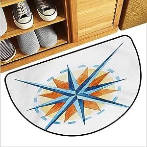 Amazon.com : warmfamily Compass Bathroom Suction Door mat ...