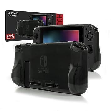 Funda Orzly Comfort Grip Case para la Nintendo Switch – Carcasa protectora con puños de mano rellenos integrados para la parte posterior de la consola ...